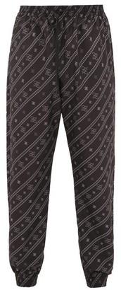 Fendi Karligraphy Ff-print Technical Track Pants - Mens - Black