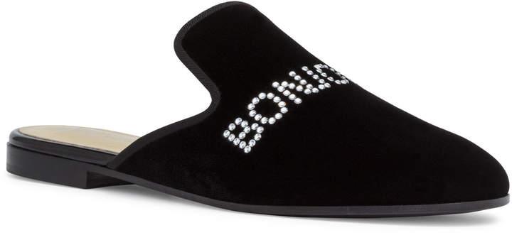 Giuseppe Zanotti Crystal Black Velvet Flats