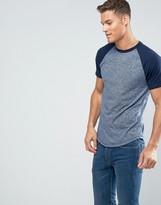 Hollister T-Shirt Slim Fit Baseball Raglan In Blue