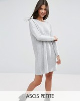 Asos Knitted Dress with Popper Cold Shoulder