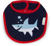 Izzy and Owie Shark Bib, Red/Navy