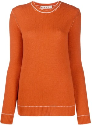 Marni Contrast-Stitch Sweater