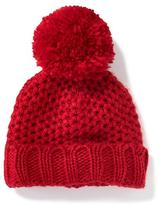 Old Navy Pom-Pom Honeycomb-Knit Beanie for Baby