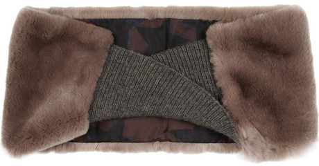 Lanvin Rabbit and knitted snood