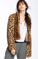 Trouvé Leopard Print Faux Fur Jacket