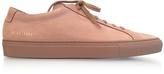 Common Projects Tan Nubuck Original Achilles Low Men's Sneakers