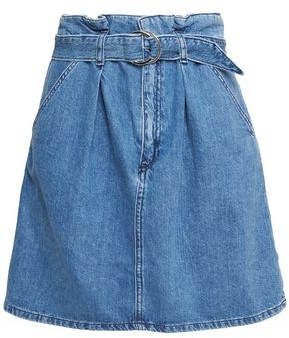 Claudie Pierlot Belted Denim Mini Skirt
