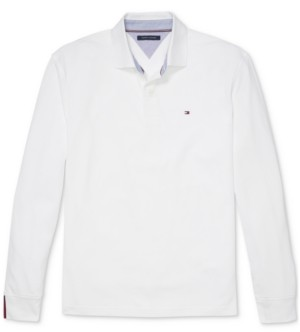 Tommy Hilfiger Adaptive Men's Kent Classic-Fit Long-Sleeve Polo Shirt with Magnetic Buttons