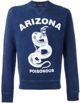 DSQUARED2 Arizona poisonous snake sweatshirt
