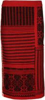 Burberry Cashmere-Wool Skirt