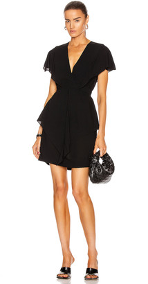 Stella McCartney Emmalee Short Sleeve Mini Dress in Black | FWRD
