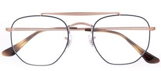 Ray-Ban tortoiseshell detailed oversized glasses