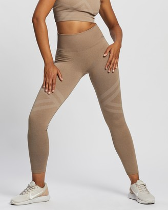 Aim'n - Women's Brown Tights - Fierce Seamless Tights - Size XS at The Iconic