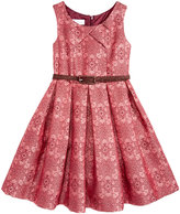 Bonnie Jean Metallic Jacquard Belted Dress, Little Girls (4-6X)