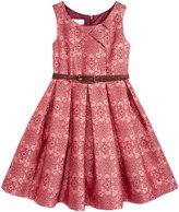 Bonnie Jean Metallic Jacquard Belted Dress, Toddler Girls (2T-5T)