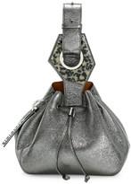 Ganni Small Metallic Leather Bucket Bag