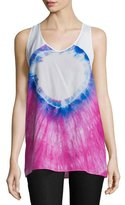 CNC Costume National Racerback Tie-Dye Tank, Multi