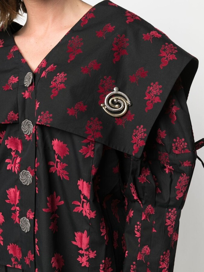 Thumbnail for your product : Chopova Lowena Floral Embroidered Blouse