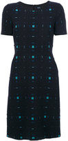 Armani Jeans fitted check dress