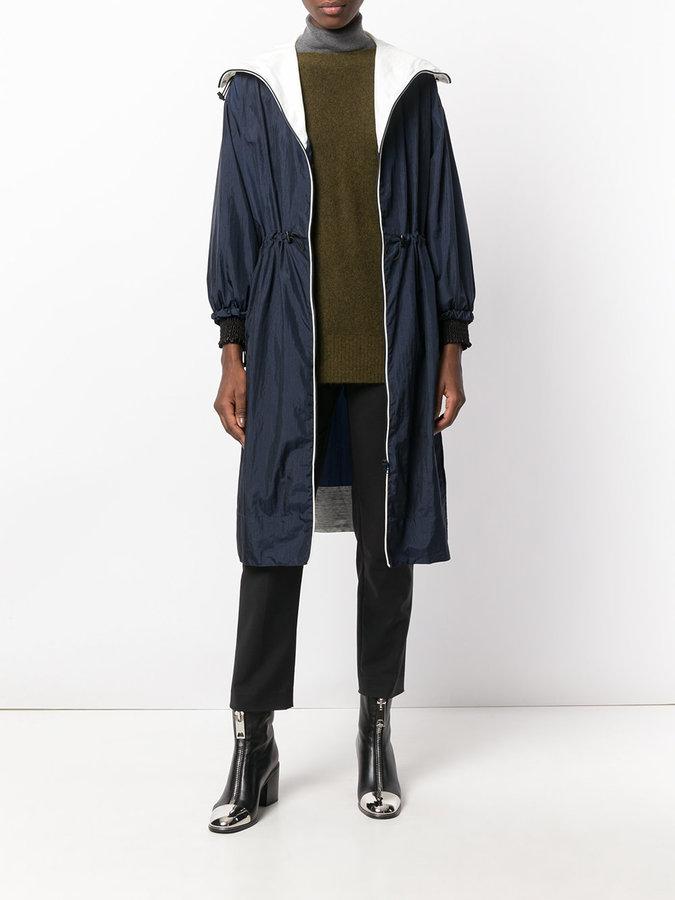 3.1 Phillip Lim contrast lightweight parka coat