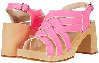 Swedish Hasbeens Vivi (Neon Pink) Women's Shoes