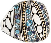 John Hardy Kali Lavafire Sea Large Square Ring