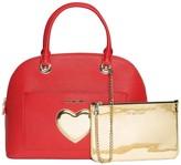 Love Moschino Solid Heart Emblem Handbag
