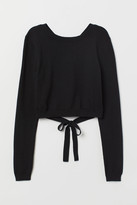 H&M Open-backed Sweater - Black