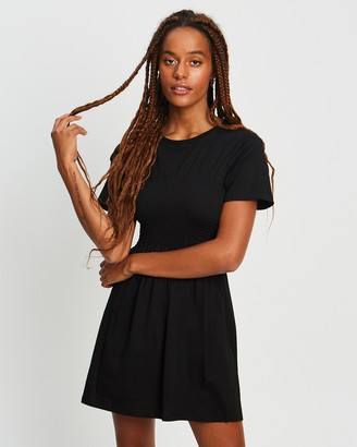 Calli - Women's Black Mini Dresses - Voila Tee Dress - Size 6 at The Iconic