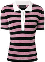 Alexander Wang striped knit polo shirt