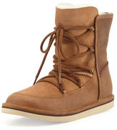 UGG Lodge Fur-Lined Lace-Up Boot