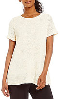 Eileen Fisher Bateau Neck Short Sleeve Top