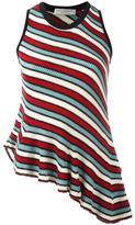 Philosophy Di Lorenzo Serafini - asymmetric striped knitted blouse - women - Cotton - 40