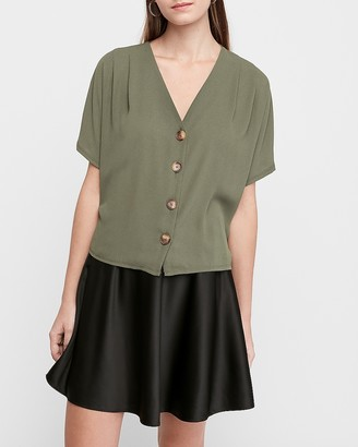 Express Button Front Dolman Sleeve Tee