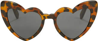 Saint Laurent Leopard Havana Loulou Sunglasses