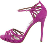 Tabitha Simmons Suede Caged Sandals