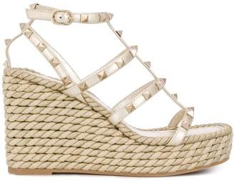 Valentino Rockstud 95mm wedge sandals