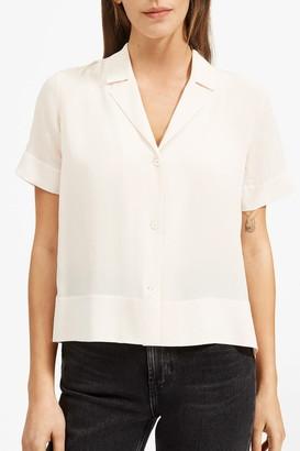 Everlane The Clean Silk Short Sleeve Notch Shirt