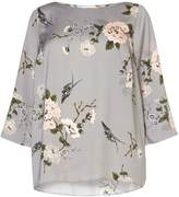 Dorothy Perkins DP Curve Grey Oriental Foral top