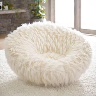Pottery Barn Teen Winter Fox Faux-Fur Groovy Swivel Chair