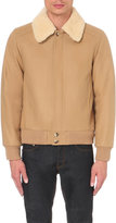 Sandro Shearling-collar Wool-blend Jacket