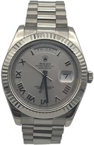 Rolex Day-Date II 40mm Silver White gold Watches