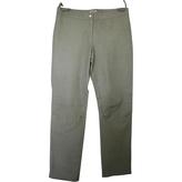 Miu Miu Green Leather Trousers