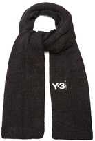 Y-3 Ribbed-edge knit scarf
