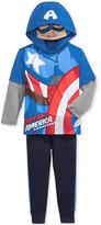 Nannette Little Boys' 2-Pc. Captain America Graphic-Print Hoodie & Pants Set