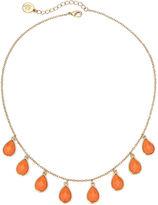 Liz Claiborne Orange Stone Gold-Tone Collar Necklace
