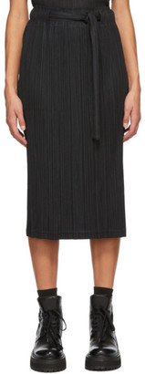 Pleats Please Issey Miyake Black Tie Skirt