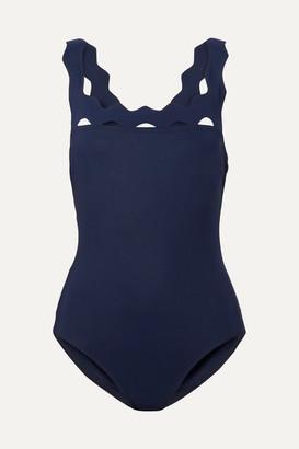 Karla Colletto Havana Scalloped Swimsuit - Navy