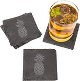 Cathy's Concepts Cathys Concepts Set Of 4 Pineapple Slate Coasters