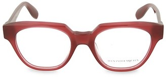 Alexander McQueen 49MM Oval Optical Glasses